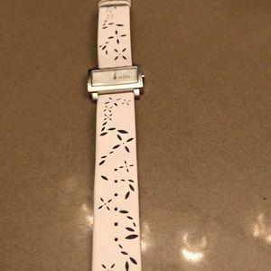 Skagen white square watch 8.5 inches